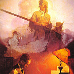Norman Rockwell - And_Daniel_Boone_Comes_to_Life