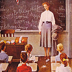 Norman Rockwell - Teachers_Birthday