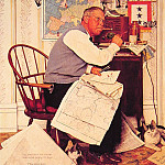 Norman Rockwell - Man_Charting_War_Maneuvers