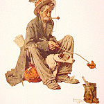 Norman Rockwell - Hobo_and_Dog