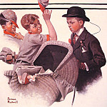 Norman Rockwell - Boy_with_Baby_Carriage