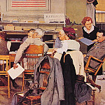 Norman Rockwell - Visits A Ration Board