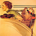 Norman Rockwell - Couple_in_rumbleseat