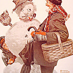 Norman Rockwell - Grandfather_and_Snowman