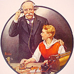 Norman Rockwell - Grandpa_Listening_In_on_the_Wireless