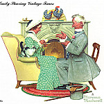 Norman Rockwell - zFox_11_NR_02_Gaily_Sharing_Vintage_Times