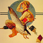 Norman Rockwell - Vacation_Boy_Riding_Goose