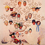 Norman Rockwell - A_family_Tree