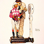 Norman Rockwell - weighing_in