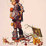 Norman Rockwell - Little_Boy_Holding_Chalk_Board