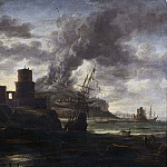 Hyacinthe Rigaud - Harbour Scene [School of]