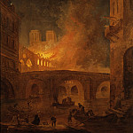 Hubert Robert - The Fire of Hôtel-Dieu in Paris 1772