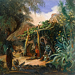 Carl Blechen - Native Huts in the Village of Jalcomulco