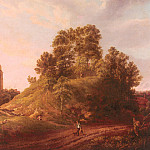 Rooker_Michael_Angelo_View_Of_Castle_Hill_Oxford, Michael John Angel