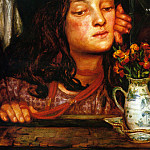 Dante Gabriel Rossetti - Girl_at_a_Lattice