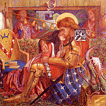 Данте Габриэль Россетти - Rossetti_Dante_Gabriel_The_wedding_Of_Saint_George_And_The_Princess_Sabra