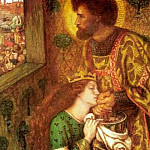 Dante Gabriel Rossetti - Saint_George_and_the_Princess_Sabra