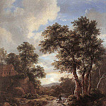 Jacob Van Ruisdael - RUISDAEL_Jacob_Isaackszon_van_Sunrise_In_A_Wood
