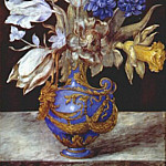 robert bouquet of flowers in blue vase c1660-80, Robert Flowers