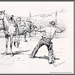 Frederick Remington - Bronco Busters Saddling