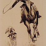 Frederick Remington - Whipping_in_a_Straggler
