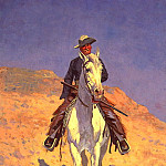 Frederick Remington - lrs Remington Frederic Self Portrait on a Horse
