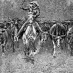Frederick Remington - Fr_026_In a Stampede_FredericRemington_sqs