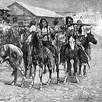 Frederick Remington - Fr_037_Crow Indians Fire into the Agency_FredericRemington_sqs