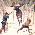 Frederick Remington - The_Moose_Hunt