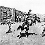 Frederick Remington - Fr_012_Mexican Vaqueros Breaking a Bronc_FredericRemington_sqs