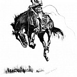 Frederick Remington - Fr_014_A Running Bucker_FredericRemington_sqs