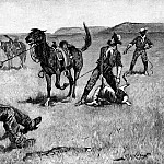 Frederick Remington - Fr_054_Teaching a Mustang Pony to Pack Dead Game_FredericRemington_sqs
