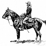 Frederick Remington - Fr_025_U.S. Cavalry Officer on Campaign_FredericRemington_sqs