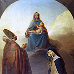 Eugenio Gignous - The Virgin with her divine Son and Saints Charles Borromeo and Catherine of Siena