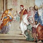 Musei Vaticani - fresco - Meeting between Duchess Mathilde and Pope Gregory VII