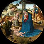 Cosimo Rosselli - The Adoration of the Christ Child