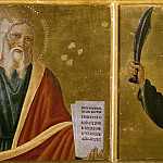 Cosimo Rosselli - Predella Panel with Moses and Abraham
