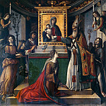 Giovanni Battista Cima da Conegliano - St John appearing to Galla Placidia