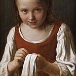 Julius Paulsen - Girl with Needle-work