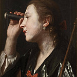 Girl Looking through a Telescope, Pietro Rotari