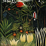 Henri Rousseau - Rousseau,H. Landscape with monkeys, ca 1910, Barnes foundati