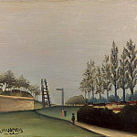 Henri Rousseau - Rousseau,H. View of the Fortifications to the left of the Ga