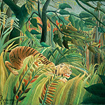 Henri Rousseau - Tiger in a Tropical Storm (Surprised!), Rousseau, 1891 - 160