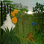 Henri Rousseau - Rousseau,H. The repast of the lion, 1907, 113.7x160 cm, The