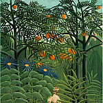 Henri Rousseau - Rousseau,H. Woman Walking in an Exotic Forest (Femme se prom