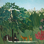 Henri Rousseau - The Waterfall, Rousseau, 1910 - 1600x1200 - ID 8149