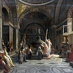 Ferdinand Bellermann - Baptistery of St. Mark in Venice