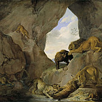 Hugo Federick Salmson - Wild Animals in a Mountain Gorge