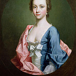 Allan Ramsay - Portrait of a lady traditionally said to be Jenny Cameron of Lochiel