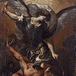 The Archangel Michael Defeating Satan [After], Michael John Angel